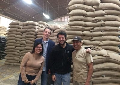 Large bags of coffee with Nic's connections